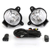 Pair Front Bumper Fog Light Lamp Cover Kit For Toyota Hilux MK7 2012-2014 Vigo