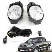 Pair Front Fog Light For Toyota Hilux Vigo MK6 2008 2009 2010 2011 Bumper Lamp