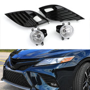 Clear Bumper Fog Lights + H16 Bulbs + Switch For 2018-2019 Toyota Camry SE XSE