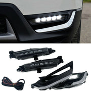 Pair Bumper DRL LED Daytime Running Fog Light Lamp For Honda CR-V CRV 2017 2018
