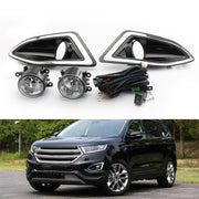 New Front Bumper Fog Lights Lamps Harness Switch Kit For Ford Edge 2015-2018