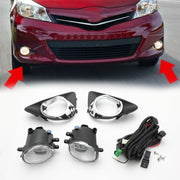 Pair Fog Light W/Switch Wiring Cover Kit For 2012 2013 2014 Toyota Yaris Hatch
