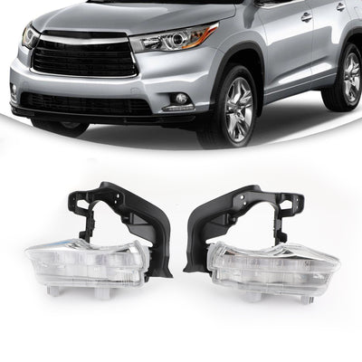 2X LED DRL Daytime Running Light Fog Lamp For Toyota Highlander 2014 2015 2016