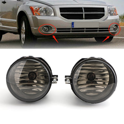 Smoke Lens Fog Light With Bulbs Fit For 07 Compass Sebring Caliber 06-09 Charger