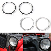 2x Mounting Bracket For 7inch LED Headlight Round Ring Jeep Wrangler JK Black