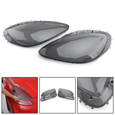 Generic Headlight Replacement Lens Driver Passenger L+R PAIR Smoke For 05-13 C6 Corvette