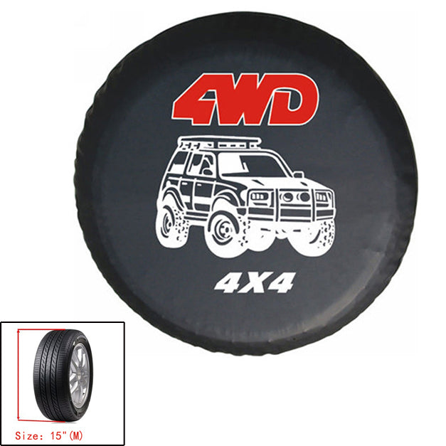 New universal Spare Wheel Tire Tyre Soft Cover 4WD Size 15 16 17 For All Car Generic