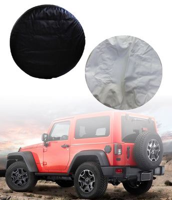 2829 Spare Wheel Tire Storage Bag Cover Made by Heavy Duty Vinyl PU Leather WH