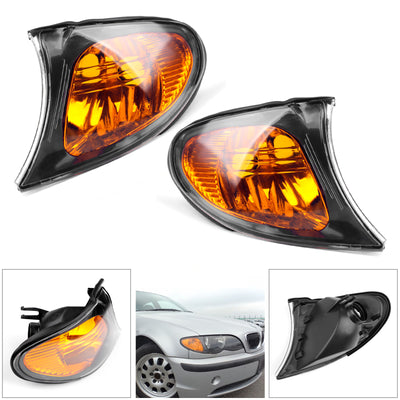 Front Indicator Turn Signal Yellow Corner Lights For BMW 3 Series E46 02-05