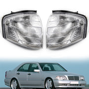 Pair Corner Lights Turn Signal Lamps Fits Mercedes Benz C Class W202 1994-2000