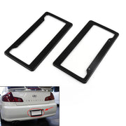 Generic 2PC Universal Black Carbon Fiber Printed Style Front/Rear License Plate Frame