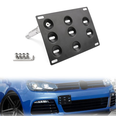 Generic Front Bumper Tow Hook License Plate Mounting Holder Bracket For VW MK6 Golf