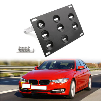 Generic Bumper Tow Hook License Plate Mount Bracket For BMW F30 F32 F10 3/4/5 SERIES