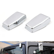 Chrome Upper Rear Door Window Hinge Cover Trims For Wrangler JK 2007-2017