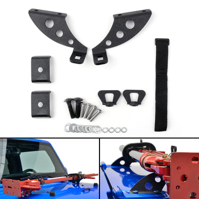 Hi-Lift Jack Mount Hood & Rear Door Hinge Bracket For 2007-2018 Wrangler JK