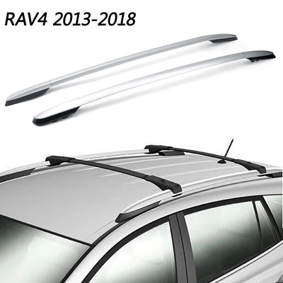 Aluminum Factory Silver Top Roof Rack Side Rails Bar For 2013-2018 Toyota RAV4
