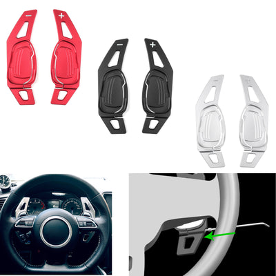 Steering Wheel Shift Lever Paddle Gear DSG For Audi A5 S3 S5 SQ5 RS3 RS6 RS7 BLK