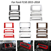 Car Console Center Dashboard Cover Trim Frame Kit For Ford F150 2015-2018 Black