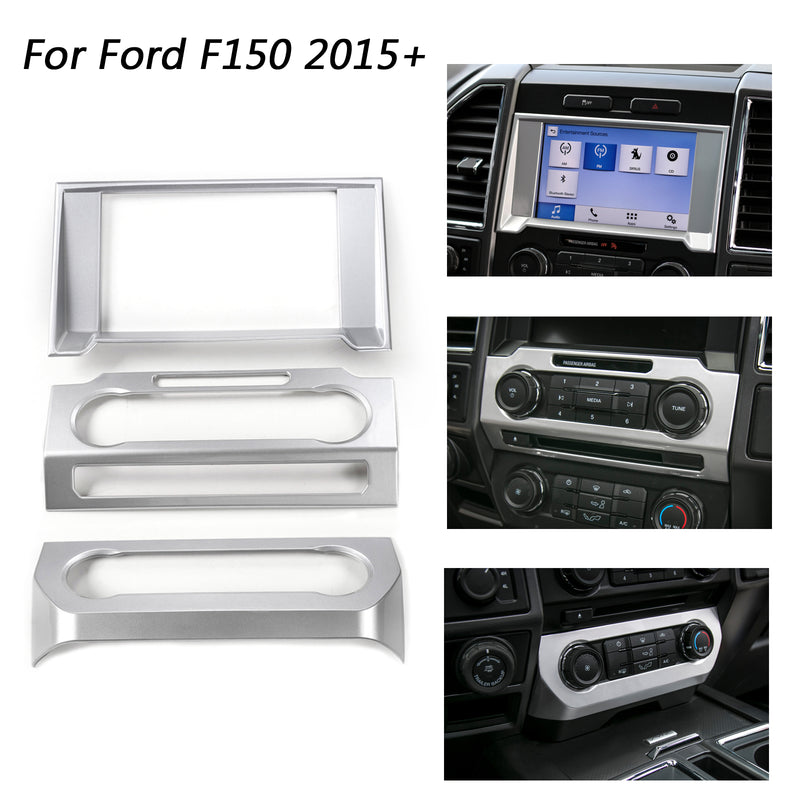 Car Console Center Dashboard Cover Trim Frame Kit For Ford F150 2015-2018 Generic