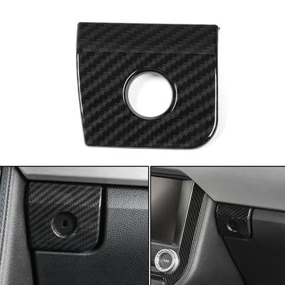 1PCS Interior Co-pilot Storage Box Handle Cover Trim For Ford Mustang 2015-2018
