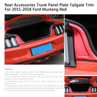 Rear Accessories Trunk Panel Plate Tailgate Trim For Ford Mustang 2015-2018 Red