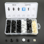 150PCS Car Push Pin Rivets Clip Door Pannel Bumper Repair Fastener Clips Kit