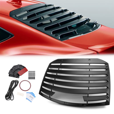 Rear Window Louver Sun Shade Cover ABS Fits 13-19 BRZ FR-S Toyota 86 T-Style