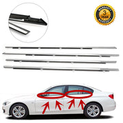 4pcs Chrome Weatherstrip Window Moulding Trim Seal Belt For Accord 2008-2012