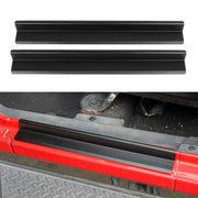 Door Sill Entry Guard Scuff Plate Protector For Jeep Wrangler JK 07-17 2Door