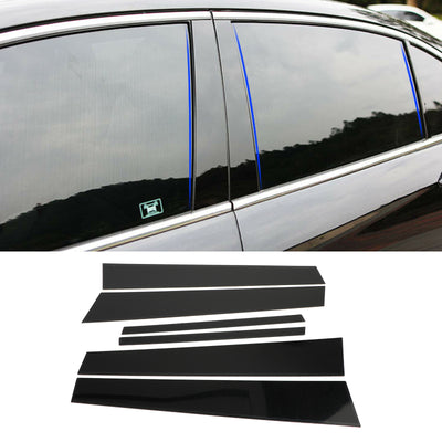 Black Pillar Posts 6pcs Cover Door Trim Window Decal For Honda Accord 2008-2012