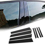Black Pillar Posts 8pcs Set Cover Door Trim Window For Honda Civic 12-15 (4dr)