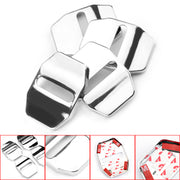 4PCS Silver Car Door Lock Cover case sticker For Jeep Grand Cherokee Wrangler