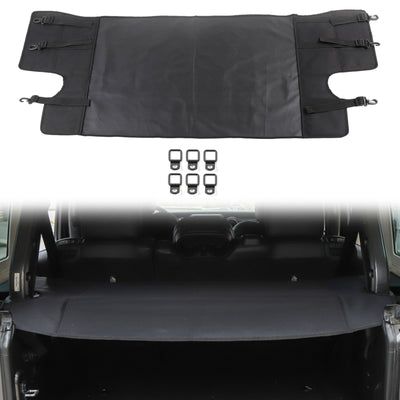 New Black Rear Trunk Cargo CURTAIN Cover Fit For Jeep Wrangler JL 2018-2019