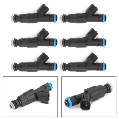 Set (6) 4-Hole Upgrade Fuel Injectors For Cherokee Grand Cherokee