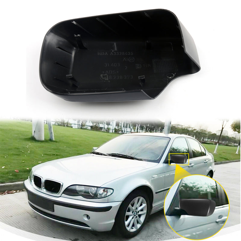 Door Mirror Cover Cap For BMW E46 E39 325i 330i 525i 530i 540i 528i 530i Generic