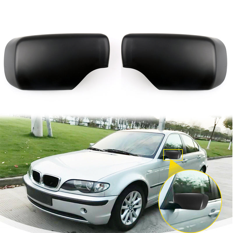 Door Mirror Cover Cap For BMW E46 E39 325i 330i 525i 530i 540i 528i 530i