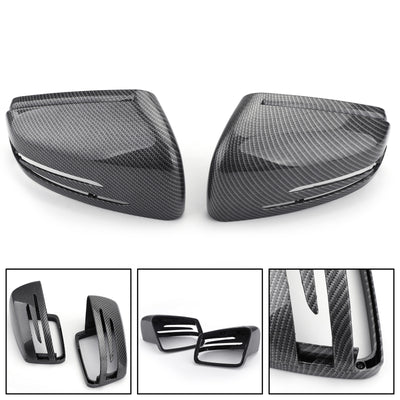 Carbon Fiber Rearview Mirror Covers Cap Fit Mercedes CLA GLA W212 W212 W221 W204