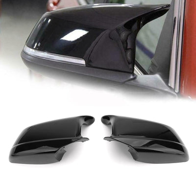 Door Side Wing Mirror Cover Cap Black For BMW 5 Series F10/F11/F18 Pre-LCI 11-13