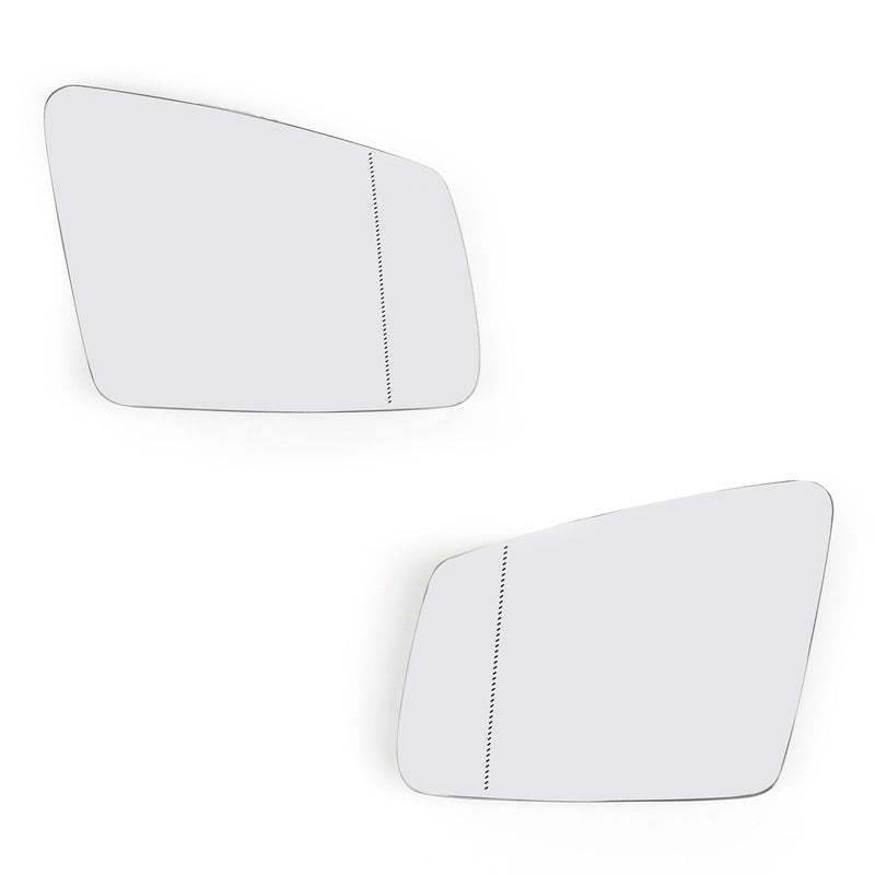 Pair Left/Right Side Heated Wing Mirror Glass For Benz S/C/E-class W212 W204