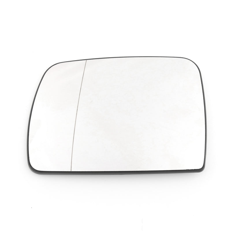 Pair Heated Door Mirror Glass and Backing Plate For 2000-2006 BMW X5 E53 Clear Generic