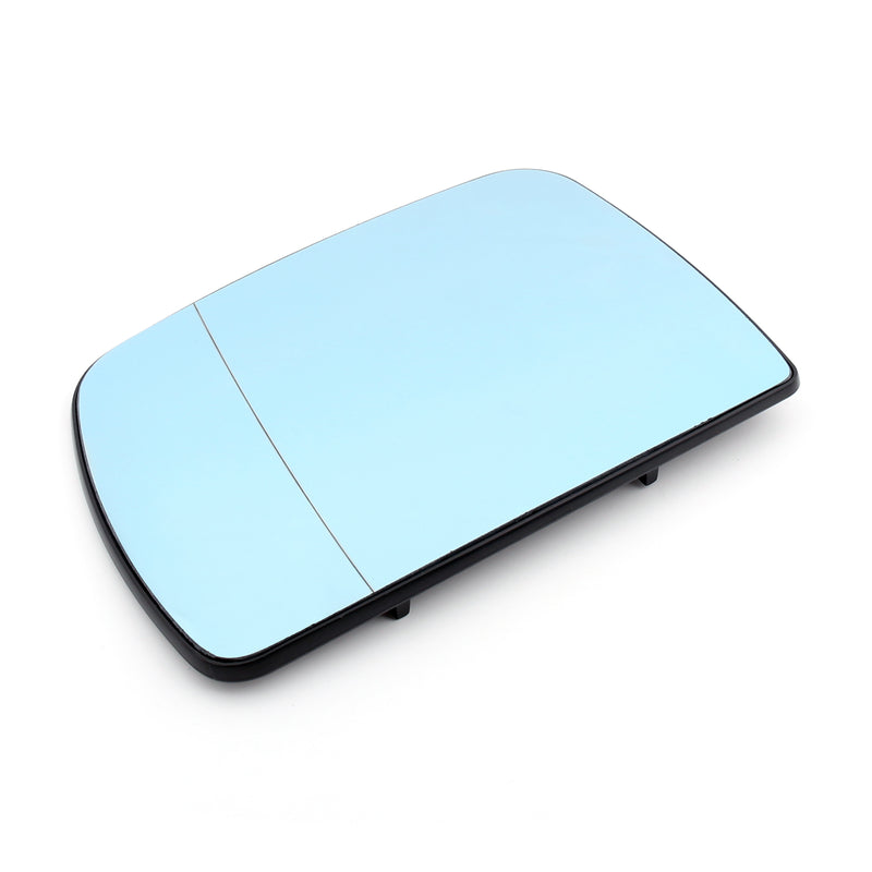 Pair Heated Door Blue Mirror Glass and Backing Plate For 99-2006 BMW X5 E53 Generic