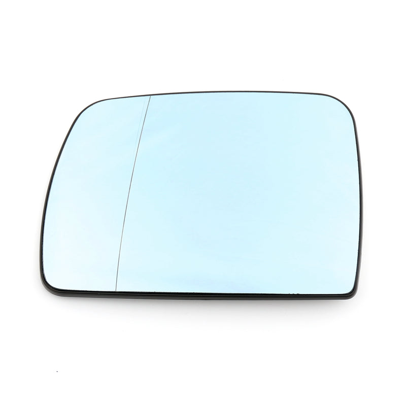 Heated Door Blue Mirror Glass and Backing Plate For 99-2006 BMW X5 E53 Generic