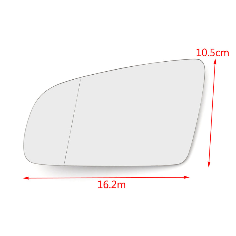 Front L&R Side Rearview Mirror Glass W/ Heated For AUDI A3 S3 A4 B6 B7 A6 S6 Generic