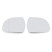 A Pair of L+R Side Rearview Mirror Glass Heated For A3 A4 A5 A6 A8 Q3 OCTAVIA