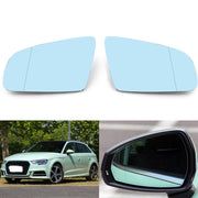 New Left/Right Blue Rearview Mirror Glass For Audi A4 B6 B7 A6 C6 2005-2008