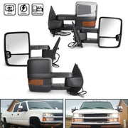 Amber LED Signal Power+Heated Towing Mirrors For 2007-2013 Silverado Sierra