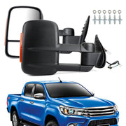 Pair Extendable Caravan Towing Mirrors For Toyota HILUX REVO 2015 ON INDICATOR
