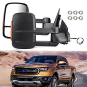 Extendable Towing Mirrors For Ford Ranger MK PX XL XLT XLS Wildtrak 2012-ON