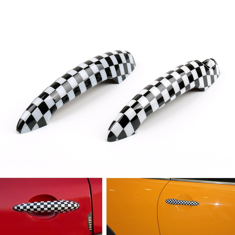Union Jack UK Flag Checkered Door Handle Cover For Mini Cooper R50 R52 R53 R55 Generic