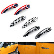 Union Jack UK Flag Checkered Door Handle Cover For Mini Cooper R50 R52 R53 R55